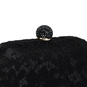 Carmen Lace Clutch in Black 5 | The Chic Initiative | Malaysian label of specially designed clutches, evening bags and minaudieres | Free shipping to Malaysia Singapore Brunei