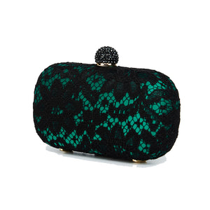 Carmen Lace Clutch in Green 6 | The Chic Initiative | Malaysian label of specially designed clutches, evening bags and minaudieres | Free shipping to Malaysia Singapore Brunei