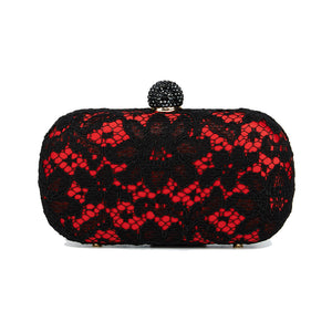 Carmen Lace Clutch in Red 1 | The Chic Initiative | Malaysian label of specially designed clutches, evening bags and minaudieres | Free shipping to Malaysia Singapore Brunei