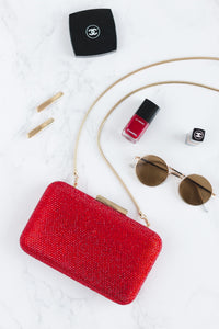 Crystal Clutch in Red 7 | The Chic Initiative | Malaysian label of specially designed clutches, evening bags and minaudieres | Free shipping to Malaysia Singapore Brunei
