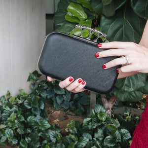 Florence Leather Clutch (Black) 10 | The Chic Initiative | Malaysian label of specially designed clutches, evening bags and minaudieres | Free shipping to Malaysia Singapore Brunei