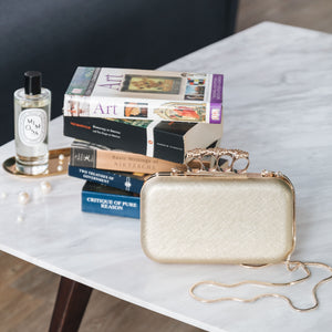 Florence Leather Clutch (Gold) 7 | The Chic Initiative | Malaysian label of specially designed clutches, evening bags and minaudieres | Free shipping to Malaysia Singapore Brunei