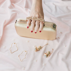 Florence Leather Clutch (Gold) 8 | The Chic Initiative | Malaysian label of specially designed clutches, evening bags and minaudieres | Free shipping to Malaysia Singapore Brunei