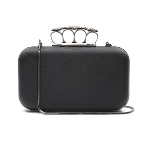 Florence Leather Clutch (Black) 1 | The Chic Initiative | Malaysian label of specially designed clutches, evening bags and minaudieres | Free shipping to Malaysia Singapore Brunei
