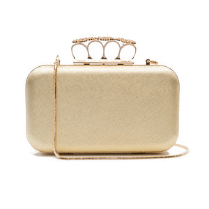 Florence Leather Clutch (Gold) 1 | The Chic Initiative | Malaysian label of specially designed clutches, evening bags and minaudieres | Free shipping to Malaysia Singapore Brunei