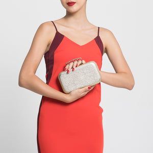 Florence Leather Clutch (Gold) 2 | The Chic Initiative | Malaysian label of specially designed clutches, evening bags and minaudieres | Free shipping to Malaysia Singapore Brunei