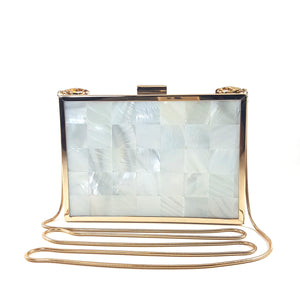 Mother of Pearl Clutch 1 | The Chic Initiative | Malaysian label of specially designed clutches, evening bags and minaudieres | Free shipping to Malaysia Singapore Brunei
