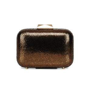 Nadia Leather Clutch in Bronze 1 | The Chic Initiative | Malaysian label of specially designed clutches, evening bags and minaudieres | Free shipping to Malaysia Singapore Brunei