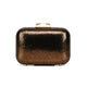 Nadia Leather Clutch (Bronze)