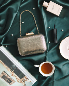 Nadia Leather Clutch in Gold 7 | The Chic Initiative | Malaysian label of specially designed clutches, evening bags and minaudieres | Free shipping to Malaysia Singapore Brunei