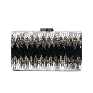 Nerissa Crystal Clutch in Black 1 | The Chic Initiative | Malaysian label of specially designed clutches, evening bags and minaudieres | Free shipping to Malaysia Singapore Brunei
