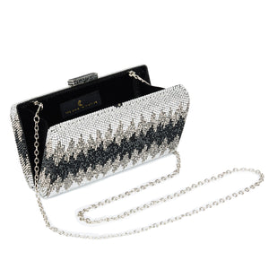 Nerissa Crystal Clutch in Black 3 | The Chic Initiative | Malaysian label of specially designed clutches, evening bags and minaudieres | Free shipping to Malaysia Singapore Brunei