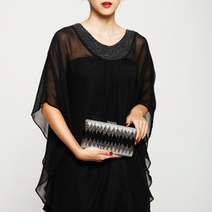 Nerissa Crystal Clutch in Black 2 | The Chic Initiative | Malaysian label of specially designed clutches, evening bags and minaudieres | Free shipping to Malaysia Singapore Brunei
