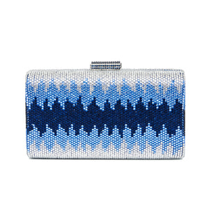 Nerissa Crystal Clutch in Blue 1 | The Chic Initiative | Malaysian label of specially designed clutches, evening bags and minaudieres | Free shipping to Malaysia Singapore Brunei
