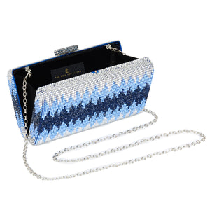 Nerissa Crystal Clutch in Blue 5 | The Chic Initiative | Malaysian label of specially designed clutches, evening bags and minaudieres | Free shipping to Malaysia Singapore Brunei