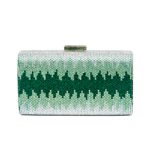 Nerissa Crystal Clutch in Green 1 | The Chic Initiative | Malaysian label of specially designed clutches, evening bags and minaudieres | Free shipping to Malaysia Singapore Brunei