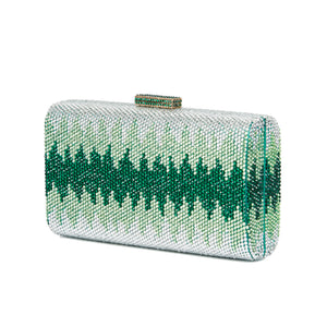 Nerissa Crystal Clutch in Green 4 | The Chic Initiative | Malaysian label of specially designed clutches, evening bags and minaudieres | Free shipping to Malaysia Singapore Brunei
