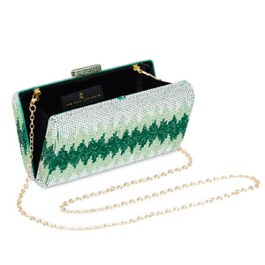 Nerissa Crystal Clutch in Green 3 | The Chic Initiative | Malaysian label of specially designed clutches, evening bags and minaudieres | Free shipping to Malaysia Singapore Brunei