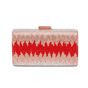 Nerissa Crystal Clutch in Red 1 | The Chic Initiative | Malaysian label of specially designed clutches, evening bags and minaudieres | Free shipping to Malaysia Singapore Brunei