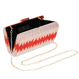 Nerissa Crystal Clutch in Red 5 | The Chic Initiative | Malaysian label of specially designed clutches, evening bags and minaudieres | Free shipping to Malaysia Singapore Brunei