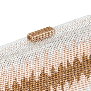 Nerissa Crystal Clutch in Rose Gold 3 | The Chic Initiative | Malaysian label of specially designed clutches, evening bags and minaudieres | Free shipping to Malaysia Singapore Brunei