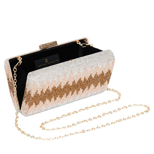 Nerissa Crystal Clutch in Rose Gold 5 | The Chic Initiative | Malaysian label of specially designed clutches, evening bags and minaudieres | Free shipping to Malaysia Singapore Brunei