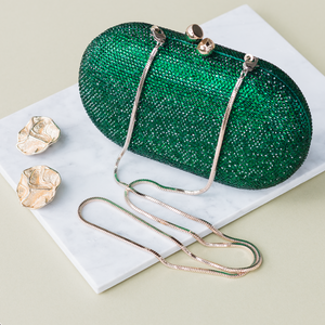 Raphael Crystal Clutch (Green)