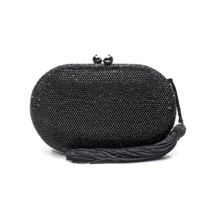 Raphael Crystal Clutch (Black) 1 | The Chic Initiative | Malaysian label of specially designed clutches, evening bags and minaudieres | Free shipping to Malaysia Singapore Brunei