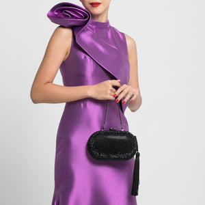 Raphael Crystal Clutch (Black) 4 | The Chic Initiative | Malaysian label of specially designed clutches, evening bags and minaudieres | Free shipping to Malaysia Singapore Brunei
