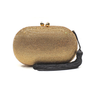 Raphael Crystal Clutch (Gold) 1 | The Chic Initiative | Malaysian label of specially designed clutches, evening bags and minaudieres | Free shipping to Malaysia Singapore Brunei
