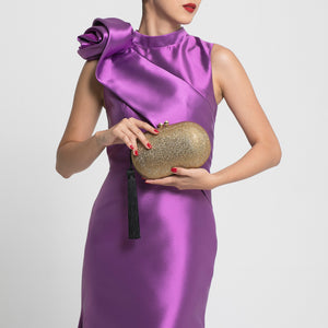Raphael Crystal Clutch (Gold) 2 | The Chic Initiative | Malaysian label of specially designed clutches, evening bags and minaudieres | Free shipping to Malaysia Singapore Brunei