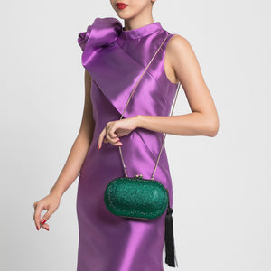 Raphael Crystal Clutch (Green) 4 | The Chic Initiative | Malaysian label of specially designed clutches, evening bags and minaudieres | Free shipping to Malaysia Singapore Brunei