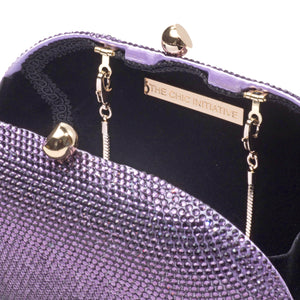 Raphael Crystal Clutch (Lilac) 5 | The Chic Initiative | Malaysian label of specially designed clutches, evening bags and minaudieres | Free shipping to Malaysia Singapore Brunei