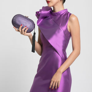 Raphael Crystal Clutch (Lilac) 4 | The Chic Initiative | Malaysian label of specially designed clutches, evening bags and minaudieres | Free shipping to Malaysia Singapore Brunei