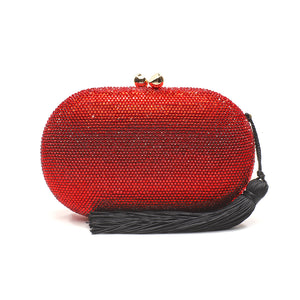 Raphael Crystal Clutch (Red) 1 | The Chic Initiative | Malaysian label of specially designed clutches, evening bags and minaudieres | Free shipping to Malaysia Singapore Brunei