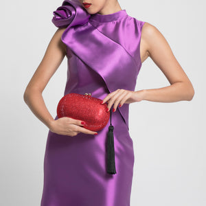 Raphael Crystal Clutch (Red) 2 | The Chic Initiative | Malaysian label of specially designed clutches, evening bags and minaudieres | Free shipping to Malaysia Singapore Brunei