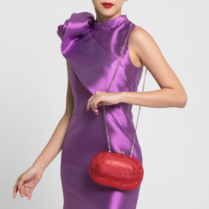 Raphael Crystal Clutch (Red) 4 | The Chic Initiative | Malaysian label of specially designed clutches, evening bags and minaudieres | Free shipping to Malaysia Singapore Brunei