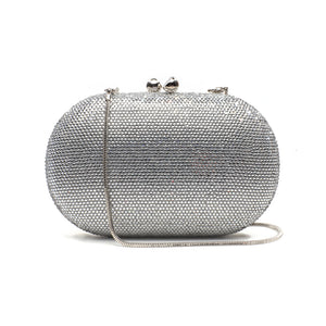 Raphael Crystal Clutch (Silver) 6 | The Chic Initiative | Malaysian label of specially designed clutches, evening bags and minaudieres | Free shipping to Malaysia Singapore Brunei