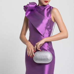 Raphael Crystal Clutch (Silver) 4 | The Chic Initiative | Malaysian label of specially designed clutches, evening bags and minaudieres | Free shipping to Malaysia Singapore Brunei