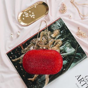 Raphael Crystal Clutch (Red) 7 | The Chic Initiative | Malaysian label of specially designed clutches, evening bags and minaudieres | Free shipping to Malaysia Singapore Brunei
