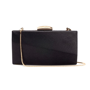 Sandro Satin Clutch (Black) 1 | The Chic Initiative | Malaysian label of specially designed clutches, evening bags and minaudieres | Free shipping to Malaysia Singapore Brunei