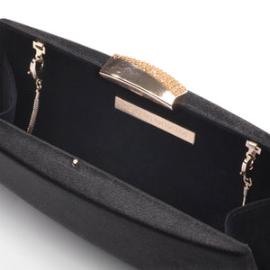 Sandro Satin Clutch (Black) 5 | The Chic Initiative | Malaysian label of specially designed clutches, evening bags and minaudieres | Free shipping to Malaysia Singapore Brunei
