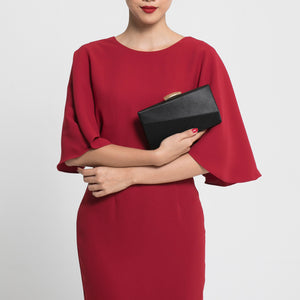 Sandro Satin Clutch (Black) 2 | The Chic Initiative | Malaysian label of specially designed clutches, evening bags and minaudieres | Free shipping to Malaysia Singapore Brunei