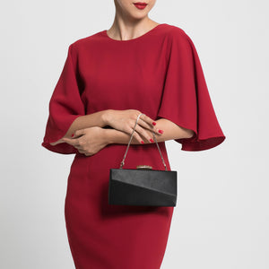 Sandro Satin Clutch (Black) 4 | The Chic Initiative | Malaysian label of specially designed clutches, evening bags and minaudieres | Free shipping to Malaysia Singapore Brunei