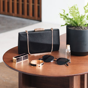 Sandro Satin Clutch (Black) 8 | The Chic Initiative | Malaysian label of specially designed clutches, evening bags and minaudieres | Free shipping to Malaysia Singapore Brunei