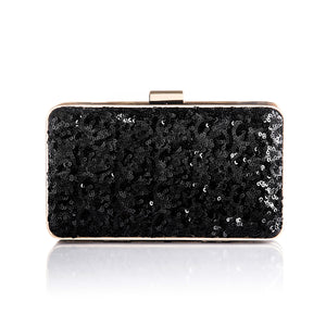 Danielle Sequined Clutch in Black 1 | The Chic Initiative | Malaysian label of specially designed clutches, evening bags and minaudieres | Free shipping to Malaysia Singapore Brunei