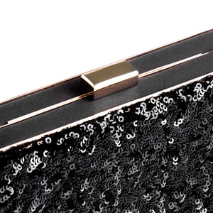 Danielle Sequined Clutch in Black 3 | The Chic Initiative | Malaysian label of specially designed clutches, evening bags and minaudieres | Free shipping to Malaysia Singapore Brunei