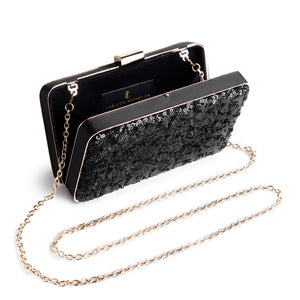 Danielle Sequined Clutch in Black 2 | The Chic Initiative | Malaysian label of specially designed clutches, evening bags and minaudieres | Free shipping to Malaysia Singapore Brunei