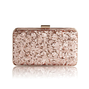 Danielle Sequined Clutch in Rose Gold 1 | The Chic Initiative | Malaysian label of specially designed clutches, evening bags and minaudieres | Free shipping to Malaysia Singapore Brunei