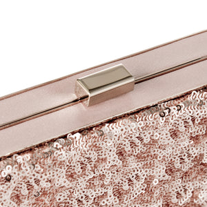 Danielle Sequined Clutch in Rose Gold 5 | The Chic Initiative | Malaysian label of specially designed clutches, evening bags and minaudieres | Free shipping to Malaysia Singapore Brunei